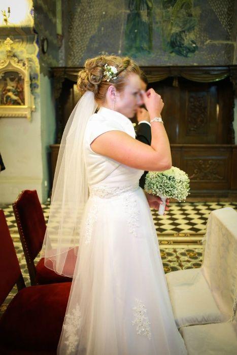 suknia ślubna roz. 40 + welon i bolerko Łódź - image 1