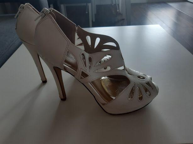 Buty ślubne sandały białe szpilka graceland 36