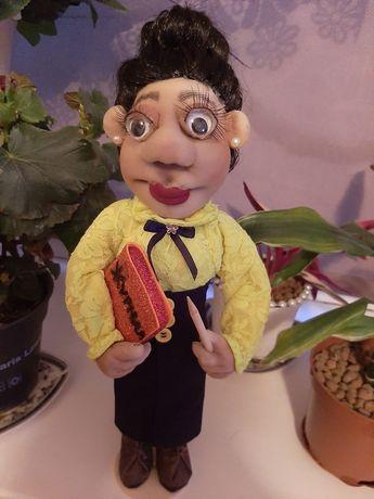 Кукла  учительница. Ручная работа