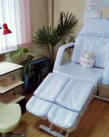 Кресло Кушетка CH-240 тату косметология педикюр черная, белая, крем