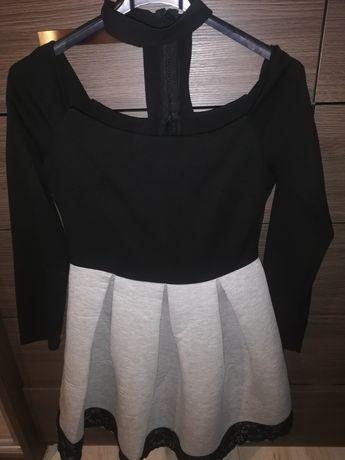 Czarno - szara sukienka