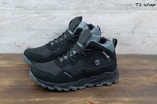 Мужские кожаные зимние кроссовки/ботинки Timberland