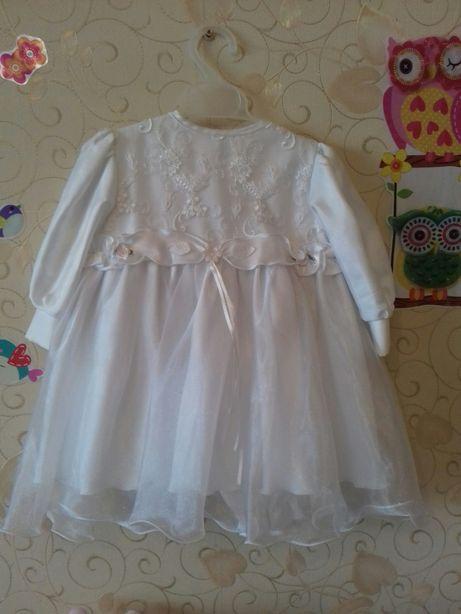 Платье нарядное, комплект, костюм 1 год, 74-80 см