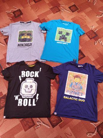 Bluzeczka, t-shirt magiczne zmieniające się cekiny rozm 152,Minecraft