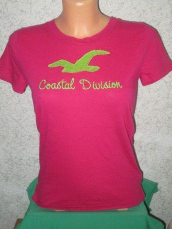Hollister t-shirt duże logo różowa rozm.S