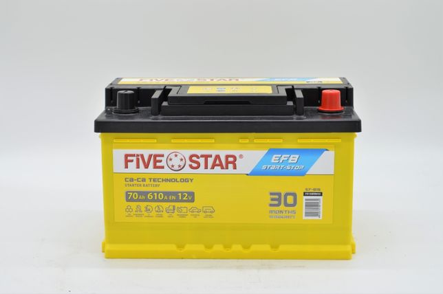 NOWY Akumulator FIVE Star EFB START-STOP 70AH 610A LB3