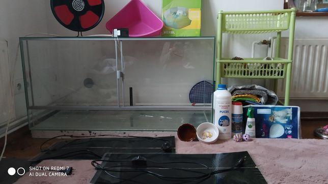 Terrarium z wyposażeniem dla jeża Maty grzewcze wybieg termostat