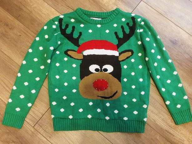 Новогодний свитер, свитер на новый год, свитер с оленем