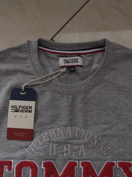 Męska bluza Tommy Hilfiger w kolorze szarym, rozm. XXL