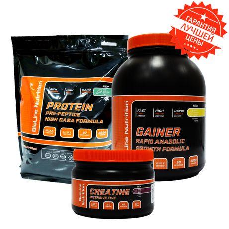 Оптимальный Набор Массы Германия Гейнер 3 кг + Протеин 2 кг + Креатин