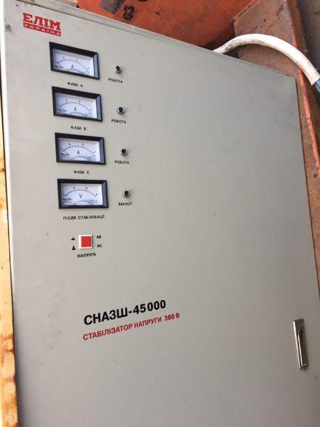 Стабилизатор напряжения СНА3Ш-45000, трехфазный, 380 В, стационарный