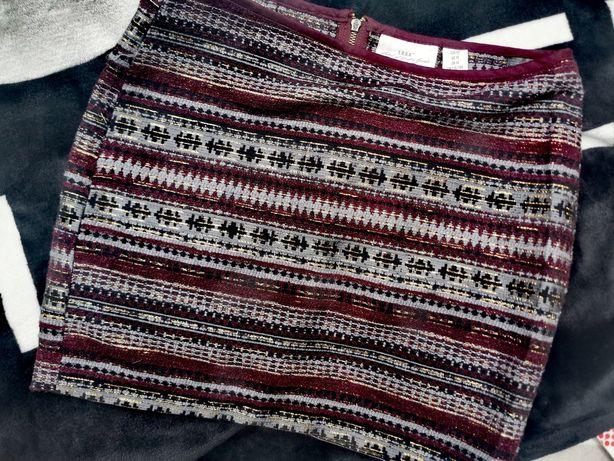 H&M spódniczka aztecki wzór rozmiar L stan bardzo dobry
