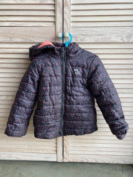 Kurtka dziecięca zimowa ciepła panterka 116 cm 5-6 lat