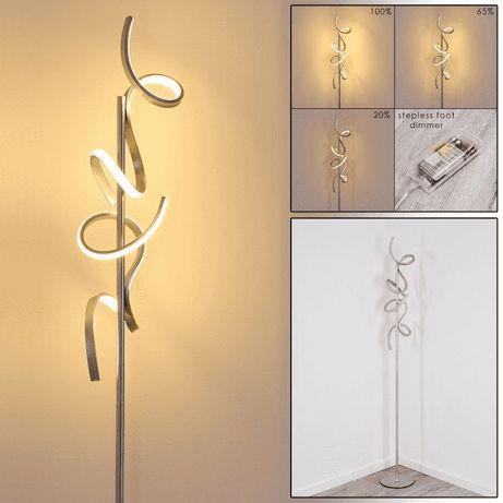 Nowość 2020 lampa stojąca LED CURLS ściemniacz fale łuki wstażka
