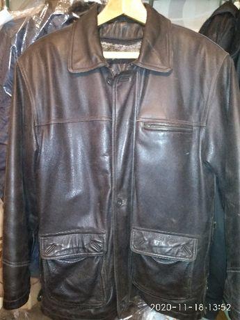 куртка кожаная с мехом мужская
