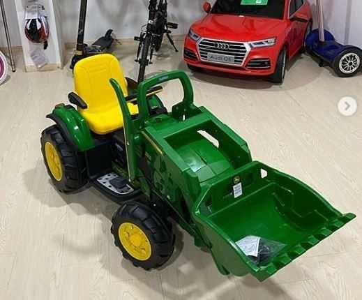Nowe Traktorki / Koparki JOHN DEERE Peg Perego na akumulator