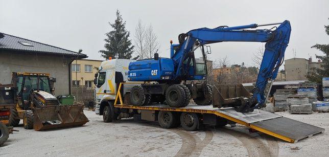 Laweta pomoc drogowa niskopodwozie platforma transport maszyn