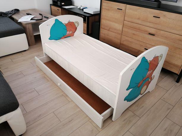 Łóżeczko łóżko dziecięce 70x140 białe barierka