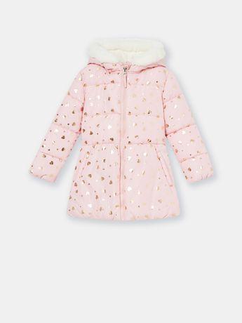 Курточка для девочки демисезон осенняя куртка розовая золото фирменная