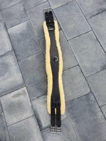 Skórzany popręg KenTaur z naturalnym futrem 115cm