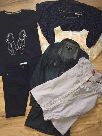 Zestaw ubrań dla dziewczynki 146/152+ gratis dwie sukienki