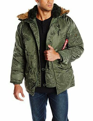 Alpha Industries N-3b Extreme Cold Parka Jacket Green N3b
