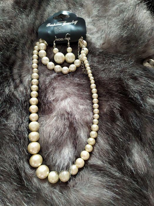 Колье,браслет,серьги.жемчужинки Львов - изображение 1