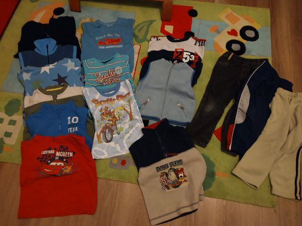 Ubranka 98 104 bluzy koszulka spodnie