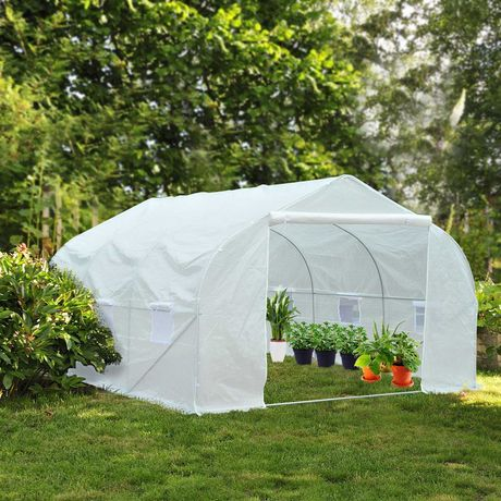 Estufa Plástico no jardim Branco 450x300x200cm