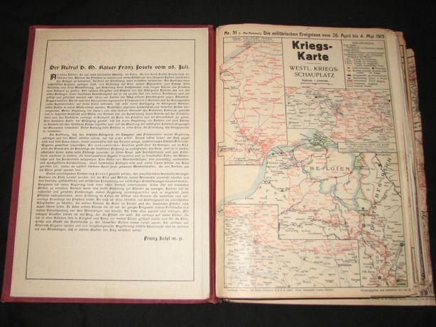 Mapy wojenne WW1 Armia niemiecka działania-katalog. Druk D.R.G.M WW2