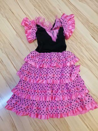 Платье горох розовое