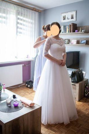 Suknia ślubna r. 38 Rękaw koronka