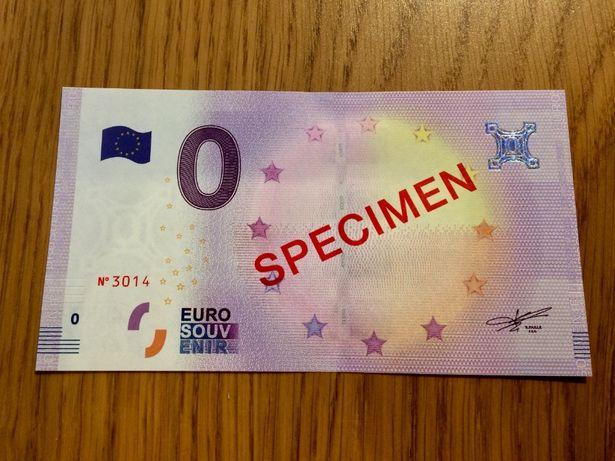 UNIKAT Banknot 0 EURO Specimen WZÓR