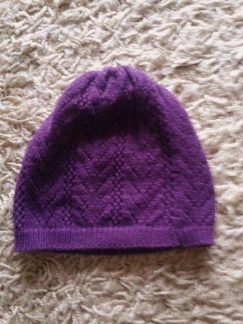 fioletowa ażurowa czapeczka Reserved