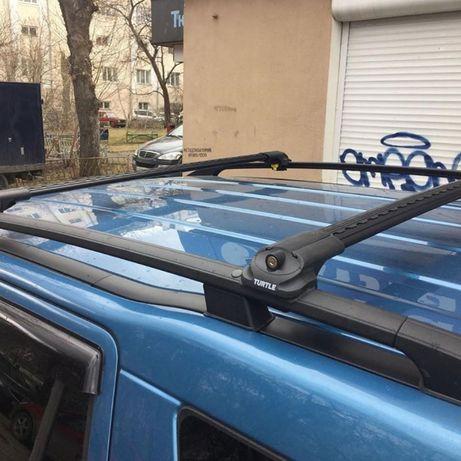 Перемычки попереки багажник на рейлинги Volkswagen Golf 7 Vagon 2012+