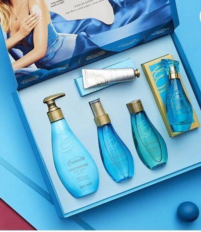 Avon Encanto zestaw perfumy balsam mgielka olejek krem do rąk