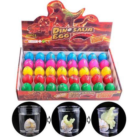Дино инкубатор 40шт 4.5x3.5см растишка яйцо динозавра растущий динозав