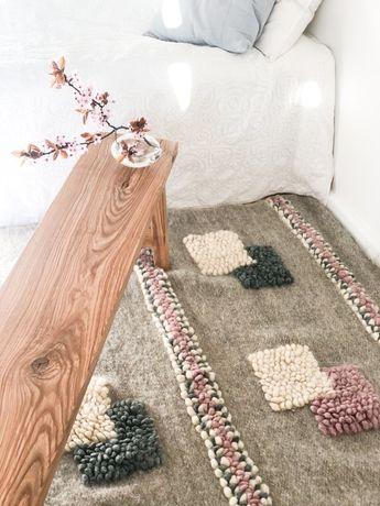 Wyjatkowy NOWY dywan tkany 100% wełna rękodzieło