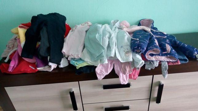 Ubrania dla dziewczynki 74 mix
