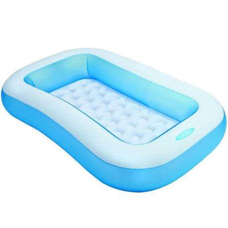 """Детский надувной прямоугольный бассейн Intex """"Ванночка"""""""