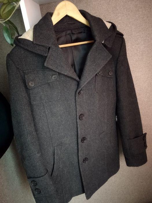 Пальто драповое деми Вишневое - изображение 1