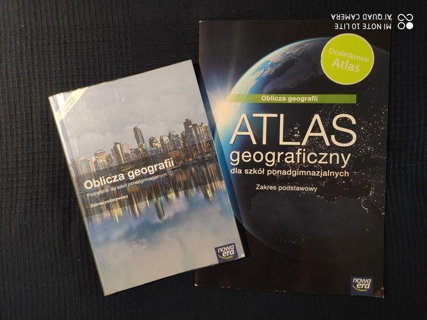 """Podręcznik i atlas """"Oblicza geografii"""", liceum, Nowa Era"""