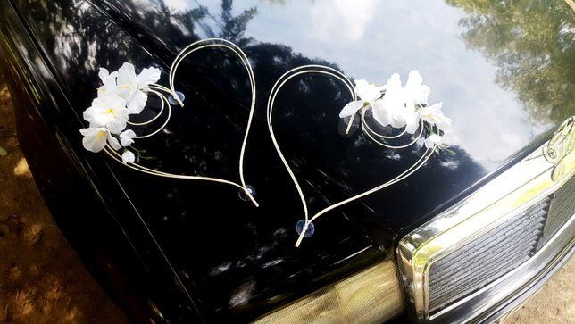 Serca na Slub 2 szt Dekoracja samochodu Auta okien