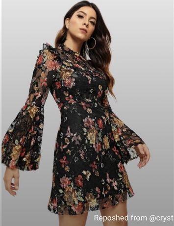 Платье нарядное платье вечернее платье кружевное