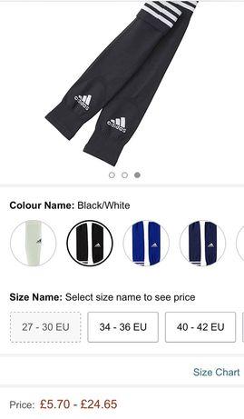 Гетры adidas чулки для спорта размер 2