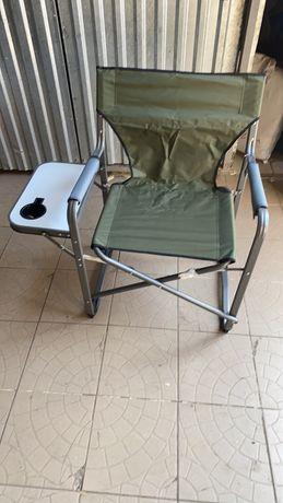 Стул складной EOS со спинкой и подлокотниками шезлонг стілець для риба