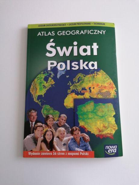 Atlas geograficzny. Świat i Polska