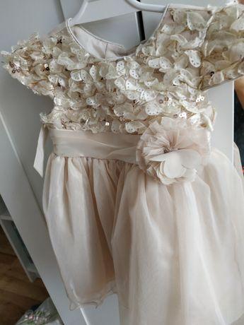 Sukienka dla dziewczynki 2 latka wizytowa