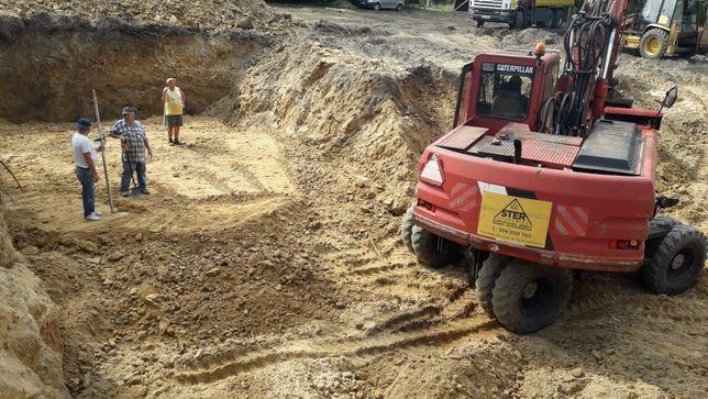 Roboty ziemne, Wykopy pod fundamenty , kanalizację płytę fundamentową