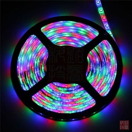 Fita LED RGB 3528 5 metros. KIT completo. NOVO